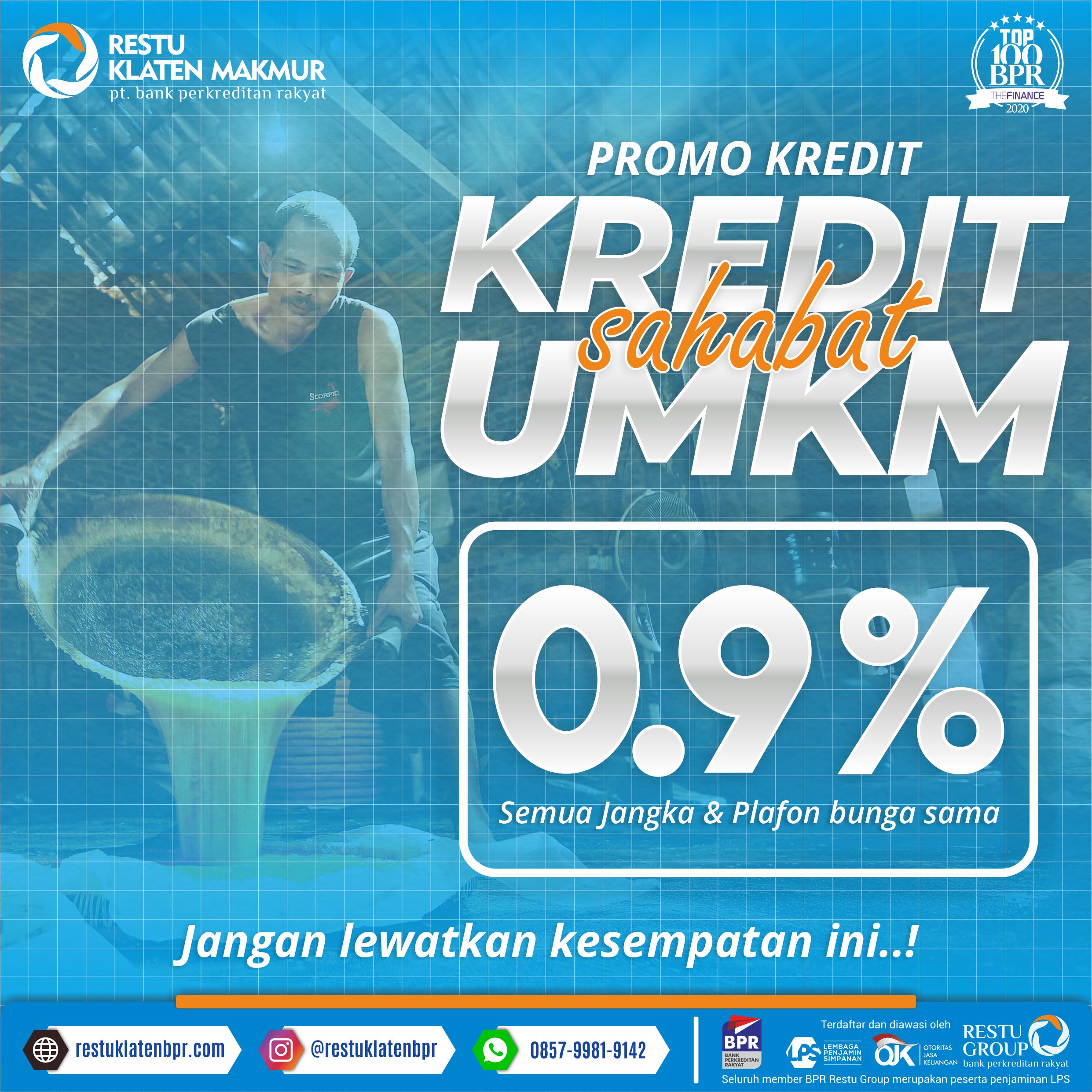 Promo Kredit UMKM 0,9%